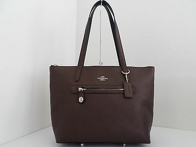 Nwt Authentic Coach 38312 Taylor Tote In Pebble Leather-$275-Bronze