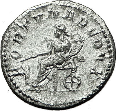 GORDIAN III 243AD Authentic Genuine Ancient Silver Roman Coin Fortuna i59136