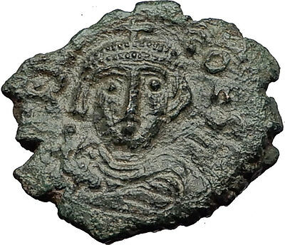 CONSTANS II 641AD Follis Syracuse Sicily Ancient Medieval Byzantine Coin i58373