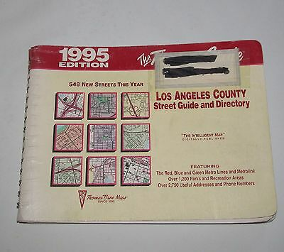 1995 Los Angeles County Thomas Guide Street Guide & Directory maps