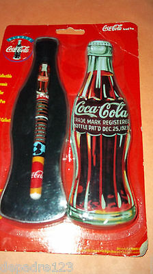 Coca-Cola Collectible Ceramic Roller Ball Pen In Special Shaped Gift Tin - NIP