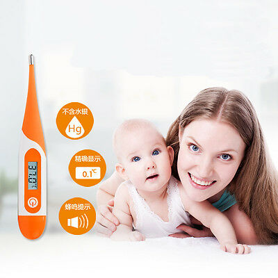 Digital Oral LCD Thermometer Medical Baby Adult Body Safe Ear Temperature Alarm
