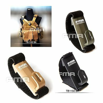 Airsoft Aluminum Shoulder Mount Sling Fixed Anchor Hook Clip Molle Chest Rig
