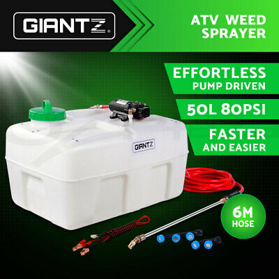 Giantz 50L 12V ATV GARDEN WEED SPRAYER PUMP DRIVEN SPOT SPRAY CHEMICAL TANK