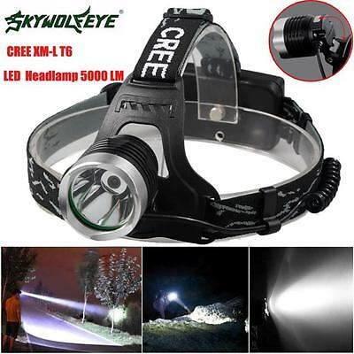 5000 Lm CREE XML T6 LED Waterproof Headlamp Headlight Flashlight Head Light Lamp