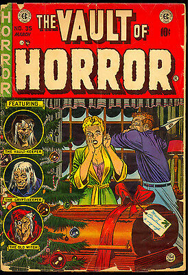 The Vault Of Horror #35 Classic Johnny Craig Christmas Cover 1954