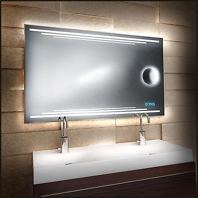 'multiled' Cosmetic Mirror & Watch New Design Led With Clock Bathroom
