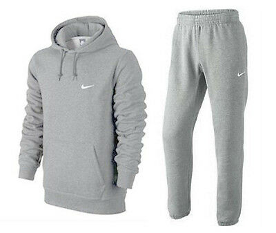 Nike Mens Fleece Overhead Tracksuit Hooded Top & Jogging Bottoms All Size