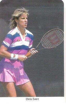 Sharp 1980s Fax Pax Chris Evert Tennis Card