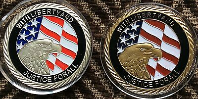 U.s.a September 11 Enamelled Gold And Silver Plated Commemorative Coins.new York