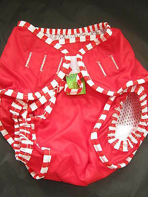 Kushies Baby Reusable Swim Nappy/Diaper Bright Red Size Medium