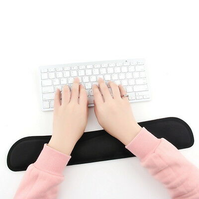 Black Gel Wrist Rest Support Comfort Pad for PC Keyboard Raised Platform Hands#D
