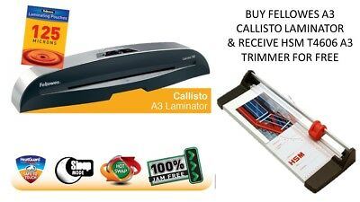 Fellowes Callisto A3 small office laminator + Free HSM T4606 A3 rotary trimmer