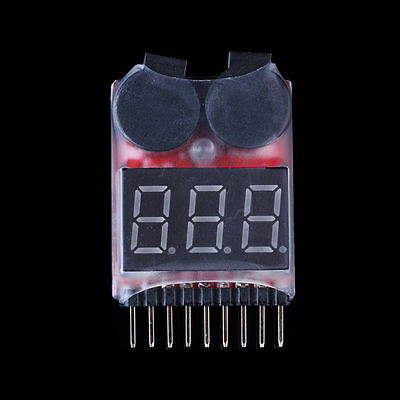 8S 2in1 RC Li-ion Lipo Battery Low Voltage Meter Tester Buzzer Alarm DP