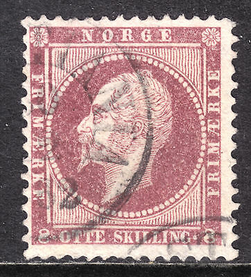 1856-57 NORWAY PERF13 #5 8s DULL LAKE, F, CDS CANCEL