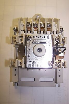 Siemens Clm Lighting Contactor 4 Pole 20 Amp  120V Coil