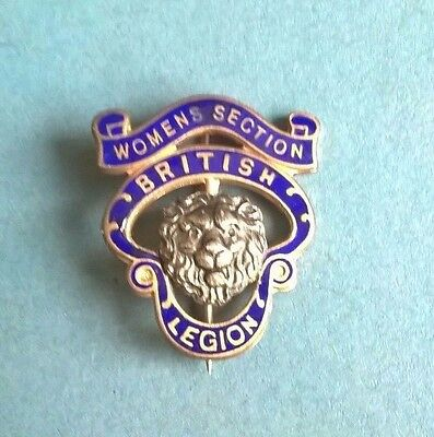 Womens Section British Legion Numberd Enamel Pin / Badge Birmingham Medal Co.