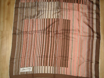 08 Vintage 70s JEAN D'ORLY silk square scarf