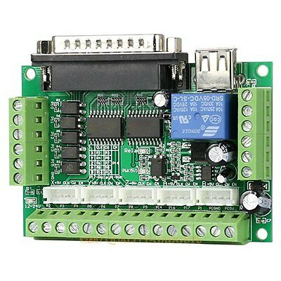 Cnc Router 5 Axis Breakout Board For Microstep Controller & 0-10V Analog Output