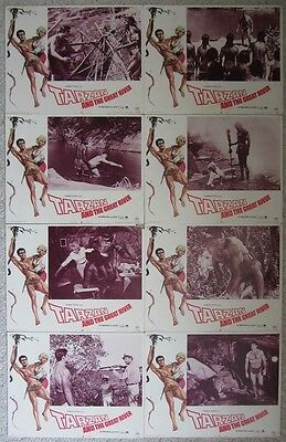 Tarzan And The Great River~Mike Henry~1967~Original 8 Lobby Card Set~Very Good -