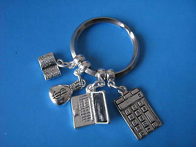Accountant Keyring Accounts Bookkeeper Accounting Keychain Graduation Gift