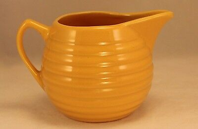 Old Vintage BAUER Ring Ware 10 Oz Creamer Pitcher Jug in Yellow Glaze