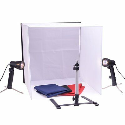 "FLEXIMOUNTS 20""x 20"" Square Photography Photo Studio Set with Lights & Stand"