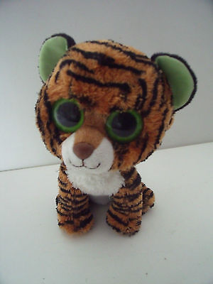 """9"""" Ty Beanie Boos  Stripes The Tiger Cub Soft Plush Toy - Cats"""