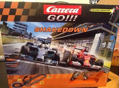 Carrera GO!!! 62366 Shakedown   F1 1:43 Slot Racing System Brand New Sealed