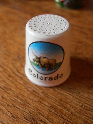 SALE Colorado Thimble,  Enamelled Metal. PAY ONLY £2.99 MAX P&P FOR MANY.