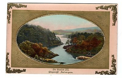 Vintage embossed postcard The Emerald Isle Glengarriff Poul-na-gurm CORK Ireland