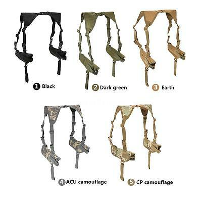 Military Horizontal Shoulder Holster Arm Double Carrier Holder Universal B7T7