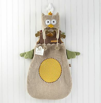 NEW Snuggle Sack Cap Baby Aspen My Little Night Owl and Cap  0-6 Months Costume