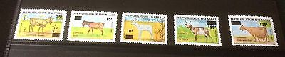 £££ Mali - année  1984 timbres  n° 494 / 498 - MNH** Animaux