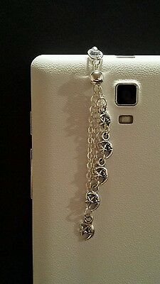 Moon & Stars Dangle Charm For Mobile Phone. Tablet. Iphone. Dust Plug.