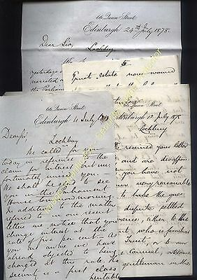 1878 LOCHBUY Estate Island of MULL , Maclean Family, Legal letters lot