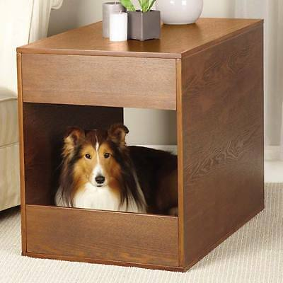 Dog Crate Table Cozy Wooden Furniture To Match Any Home Decor Hidden Dog's Bed