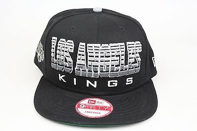 big sale fc754 8e2c9 Los Angeles Kings Fade Snap Black Gray White NHL New Era 9Fifty Snapback Hat