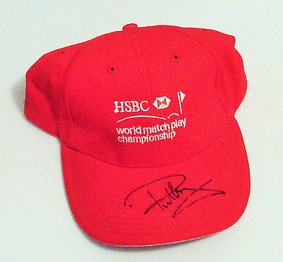 Hsbc World Match Play Championship- Golf Cap Signed By Paul Casey