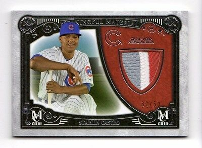 Starlin Castro Mlb  2016 Topps Museum  Meaningful Material Prime Relic (Cubs)