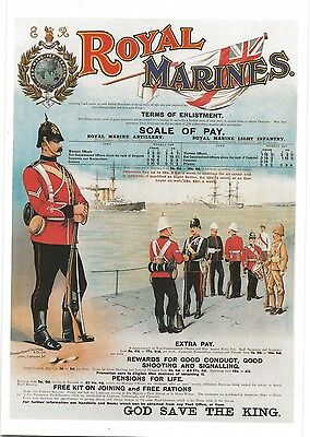 Royal Marines Terms of Enlistment - Imperial War Museum Card