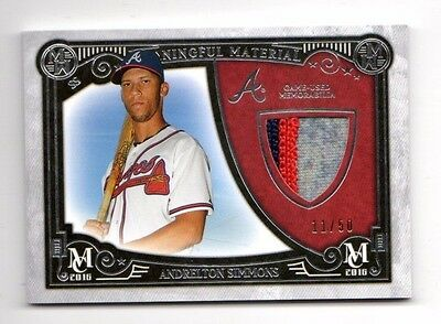 Andrelton Simmons Mlb 2016 Topps Museum Meaningful Material Prime Relic (Braves)