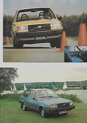 Volvo 343 And 343Dl Original Dealers Postcards 'brochure' Connected 2 Of