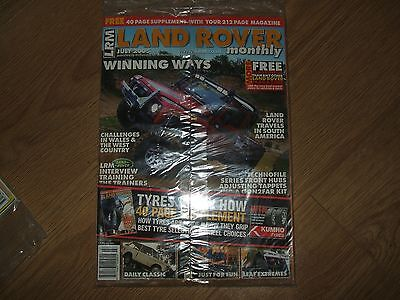 Unread, Land Rover Monthly, Lrm Magazine, Jly '05 (Tyres Supplement/classic R/r)