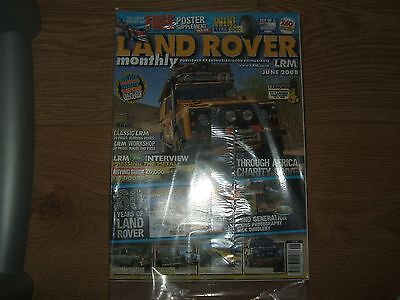 Unread Land Rover Monthly, Lrm Magazine, Jun '08 (60 Years Of L,r/poster/africa)
