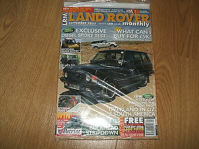 Unopened/sealed Land Rover Monthly, Lrm Magazine, Sep '05 (Rr Classic/ser 3/101)