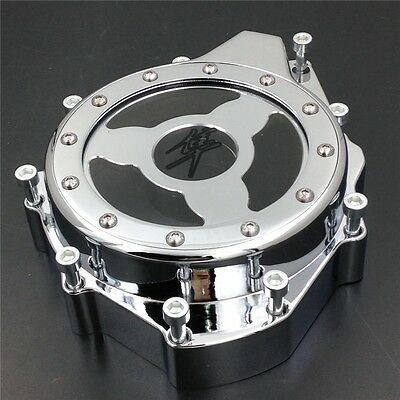Billet Engine Stator cover see through SUZUKI Hayabusa GSXR1300 1999-2013 chrome