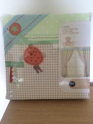 New Next Ziggy And Friends Tab Top Nursery Curtains With Tie Backs