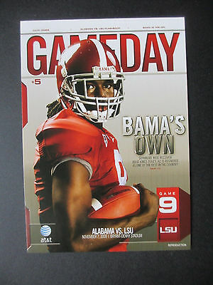 2009 Alabama vs LSU Football Program Postcard Official Reproduction