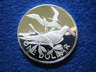 1976 Virgin Islands Silver Proof Dollar - Frigate Birds - Free U S Shipping